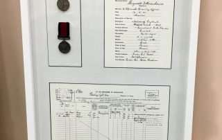 Box Frame with medals
