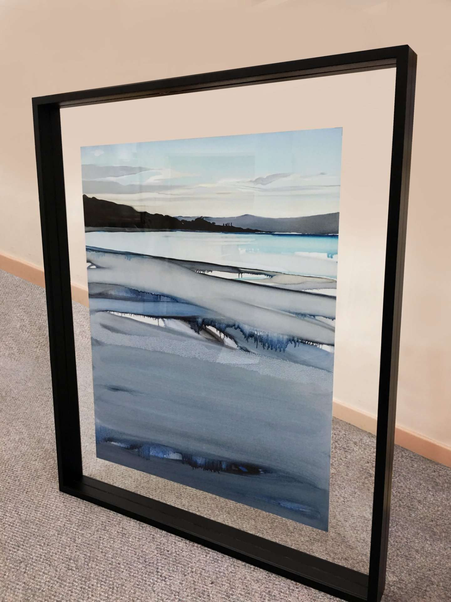 Double Sided hanging-Frame with Clear Border