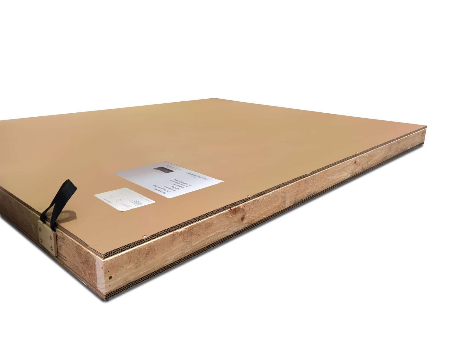 International shipping crate with wooden sides